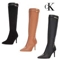 Calvin Klein Leather High Heel Boots