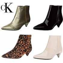 Calvin Klein Leather Ankle & Booties Boots