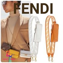 FENDI STRAP YOU Casual Style Calfskin PVC Clothing Bags