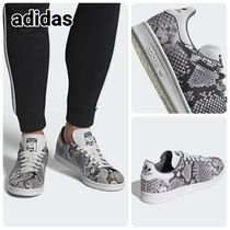adidas STAN SMITH Lace-up Unisex Street Style Leather Python Low-Top Sneakers