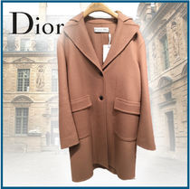 Christian Dior Cashmere Plain Medium Elegant Style Peacoats
