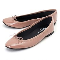 repetto Plain Leather Elegant Style Pointed Toe Shoes