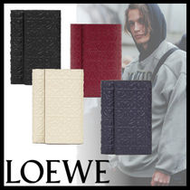 LOEWE Monogram Street Style Leather Folding Wallets