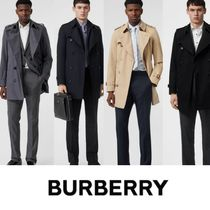 Burberry Short Other Check Patterns Trench Coats