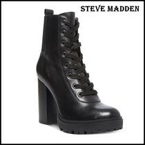 Steve Madden Casual Style Leather Office Style High Heel Boots