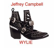 Jeffrey Campbell Casual Style Suede Blended Fabrics Studded Block Heels