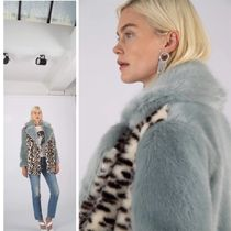 Jakke Leopard Patterns Faux Fur Plain Medium Logo