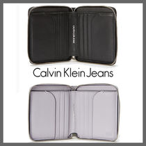Calvin Klein CALVIN KLEIN JEANS Unisex Street Style Leather Folding Wallets