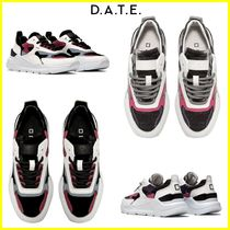 DATE Rubber Sole Casual Style Plain Leather Low-Top Sneakers