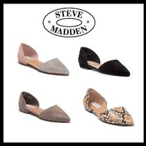 Steve Madden Open Toe Casual Style Suede Peep Toe Pumps & Mules