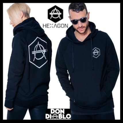 HEXAGON Hoodies Unisex Street Style Long Sleeves Cotton Hoodies