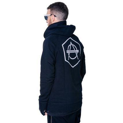 HEXAGON Hoodies Unisex Street Style Long Sleeves Cotton Hoodies 3
