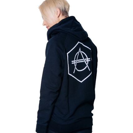 HEXAGON Hoodies Unisex Street Style Long Sleeves Cotton Hoodies 6