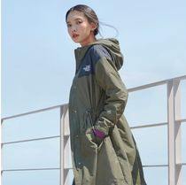 THE NORTH FACE WHITE LABEL Stand Collar Coats Casual Style Unisex Street Style Long
