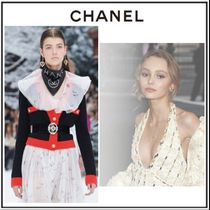 CHANEL Flower Patterns Casual Style Silk Shirts & Blouses