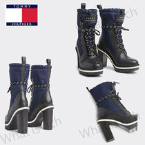 Tommy Hilfiger Casual Style Faux Fur Block Heels Ankle & Booties Boots