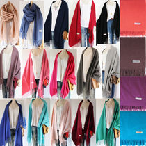 Casual Style Wool Cashmere Street Style Plain Party Style
