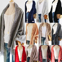 Casual Style Wool Cashmere Blended Fabrics Street Style