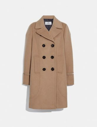 Coach Wool Plain Long Peacoats