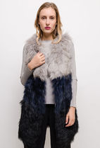 Casual Style Fur Street Style Plain Medium Party Style