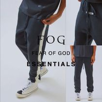 FEAR OF GOD ESSENTIALS Unisex Blended Fabrics Street Style Plain Cotton Bottoms