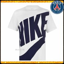 Nike Street Style Collaboration Bi-color Cotton Short Sleeves