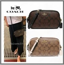 Coach Monogram Casual Style Street Style Leather PVC Clothing