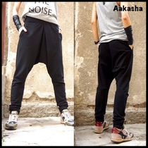 Aakasha Casual Style Street Style Plain Long Sarouel Pants