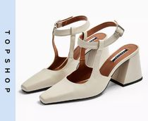 TOPSHOP Casual Style Other Animal Patterns Leather Block Heels