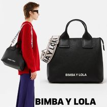 bimba & lola Casual Style Plain Leather Handbags