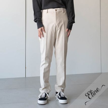 Cropped Corduroy Street Style Plain Oversized Cropped Pants