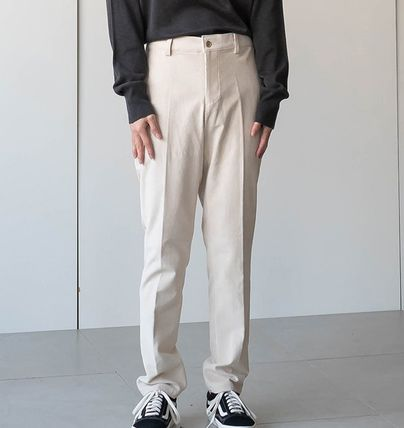 Cropped Corduroy Street Style Plain Oversized Cropped Pants 9