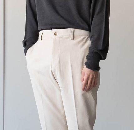 Cropped Corduroy Street Style Plain Oversized Cropped Pants 4
