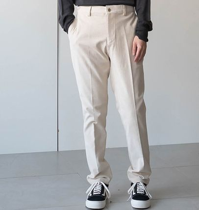 Cropped Corduroy Street Style Plain Oversized Cropped Pants 7