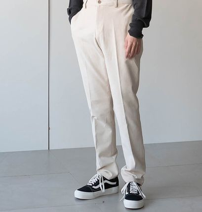Cropped Corduroy Street Style Plain Oversized Cropped Pants 8
