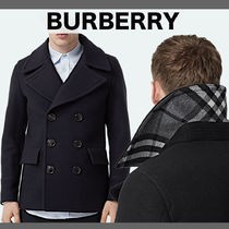 Burberry Short Other Plaid Patterns Wool Cashmere Nylon