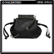 VALENTINO Studded Leather Elegant Style Crossbody Shoulder Bags