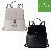 kate spade new york Casual Style A4 Plain Leather Backpacks