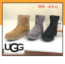 UGG Australia KRISTIN Casual Style Suede Fur Flat Boots