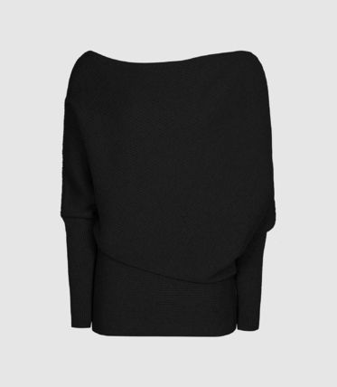 REISS Plain Medium Office Style Elegant Style Off the Shoulder