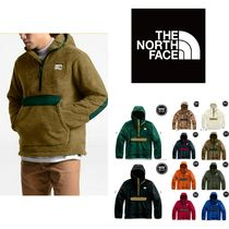 THE NORTH FACE Pullovers Unisex Long Sleeves Plain Hoodies
