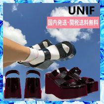 UNIF Clothing Open Toe Platform Casual Style Plain
