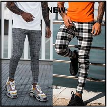 SINNERS ATTIRE Other Check Patterns Street Style Skinny Fit Jeans & Denim