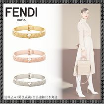 FENDI Bangles Casual Style Unisex Party Style Brass Office Style