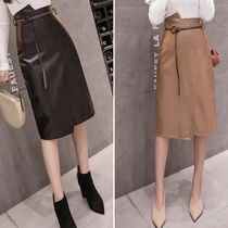 Faux Fur Medium Office Style Elegant Style Midi Skirts