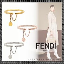 FENDI Bangles Casual Style Unisex Chain Party Style Office Style