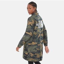 THE NORTH FACE Stand Collar Coats Camouflage Casual Style Nylon
