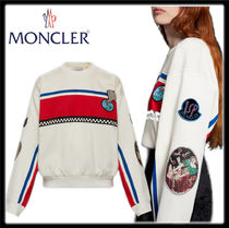 MONCLER MONCLER GENIUS Crew Neck Street Style Long Sleeves Plain Cotton