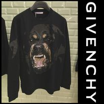 GIVENCHY Crew Neck Pullovers Unisex Long Sleeves