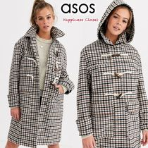 ASOS Other Plaid Patterns Casual Style Medium Duffle Coats
